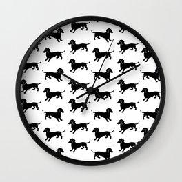 Dachshund Pattern Wall Clock