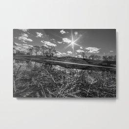 Mack Park-Black and White Metal Print