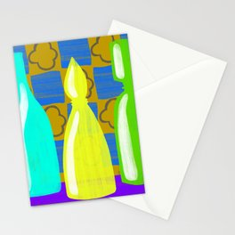 Moroccan Bottles with mustard wall Stationery Cards