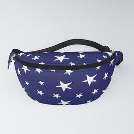 Stars - White on Navy Blue Fanny Pack