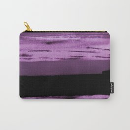 pink and black abstract painting Carry-All Pouch