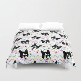 CMYK Cat Pattern Duvet Cover
