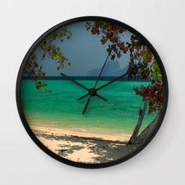 Paradise Found Wall Clock