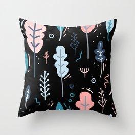 Garden Patten Throw Pillow