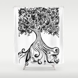 Árbol de la abundancia (Abundance tree) Shower Curtain
