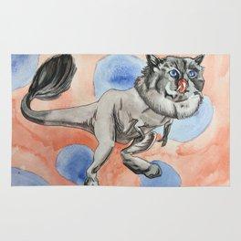 Tyrannosaurus Kitty Rug