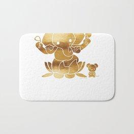 Golden Ganesha Bath Mat