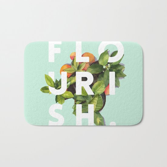 Flourish #society6 #buyart #typography #artprint Bath Mat