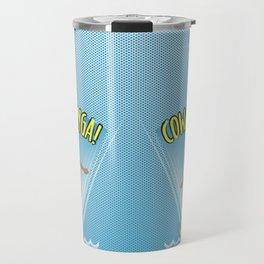 Cowabunga Flow-boarding Pop Art Travel Mug