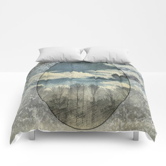 Circle Of Life Mirror Landscape Comforters