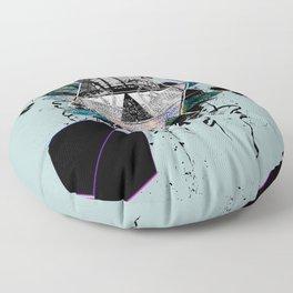 Modern Geometric Dragonfly v2 Floor Pillow