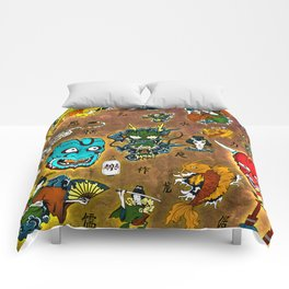 Japanese Collage Comforters