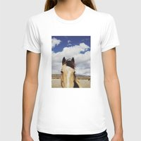horse T-shirts featuring Cloudy Horse Head by Kevin Russ