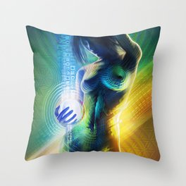 Prismatic Singularity Throw Pillow