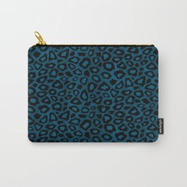 Teal Leopard Animal Pattern Carry-All Pouch