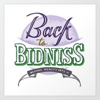Back to Bidniss color Art Print