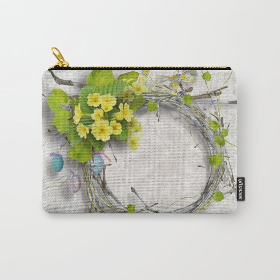 Yellow flowers wreath Carry-All Pouch