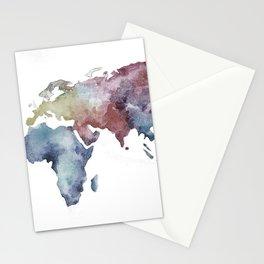 Lápiz Nómada World map Stationery Cards
