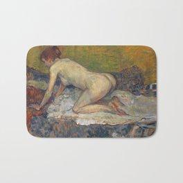"Henri de Toulouse-Lautrec ""Crouching Woman with Red Hair"" Bath Mat"