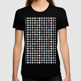 Open eyes open mind typography T-shirt
