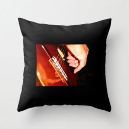 Flamenco Guitar Fingers Throw Pillow