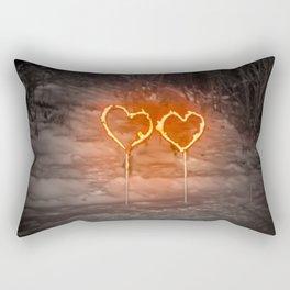 Burning hearts Rectangular Pillow