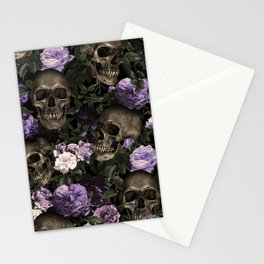 Skull and Rose Garden Stationery Cards