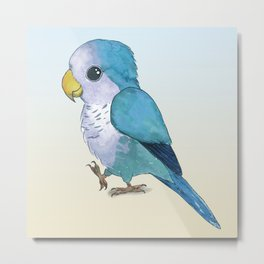 Very cute blue parrot Metal Print
