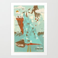 Aan w/ Helvetia & Cabana @ Bunk Bar, Portland, Oregon, February 7th Art Print