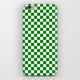 Small Checkered - White and Green iPhone Skin