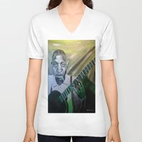 allyson johnson V-neck T-shirts featuring Robert Johnson  by Robert E. Richards