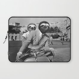 Sloth in Roman Holiday Laptop Sleeve