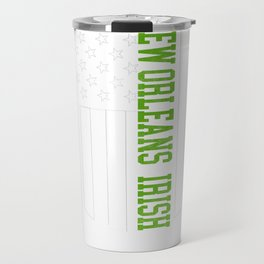New Orleans Irish prints by Howdy Swag graphic Travel Mug