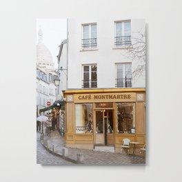 Cafe Montmartre - Paris Travel Photography Metal Print