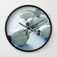 Poppy seed capsule Wall Clock