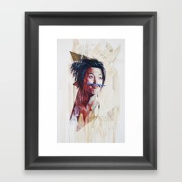 painting for Mustache Show, last Movember (untitled) Framed Art Print