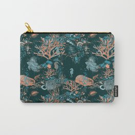 Coral Aqua Life Carry-All Pouch