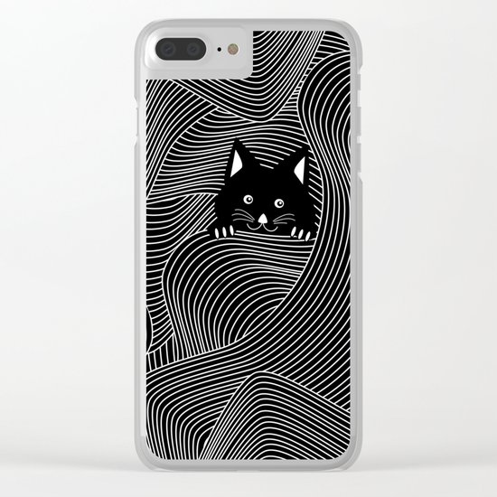 Crazy Cat Lady Clear iPhone Case