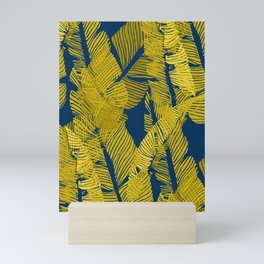 Carved Yellow&Blue Jungle #society6 #decor #buyart Mini Art Print