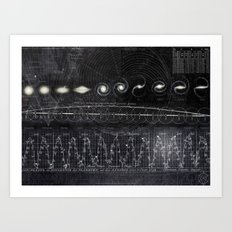 Black&White Diagram Art Print