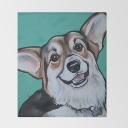 Wayne the Corgi Throw Blanket