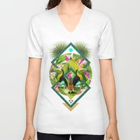kris tate V-neck T-shirts featuring ▲ TROPICANA ▲ by KRIS TATE x BOHEMIAN BLAST by ▲ BOHEMIAN BLAST ▲