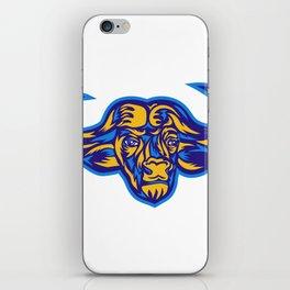 Cape Buffalo Head Retro iPhone Skin