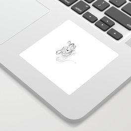 Zebra Line Drawing Sticker