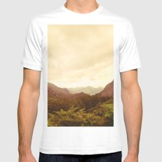 mountains (02) White Mens Fitted Tee MEDIUM