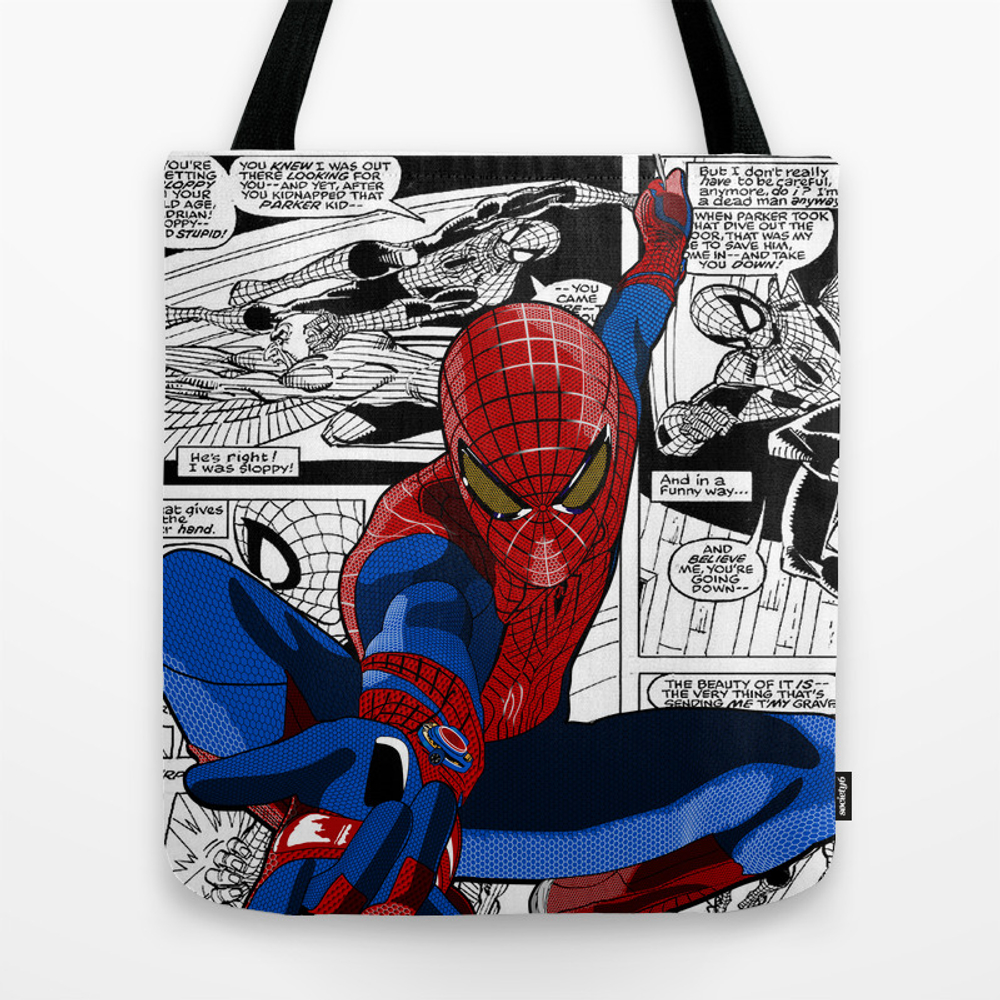 Spider-man Comic Tote Bag by Crhodes23 TBG681773