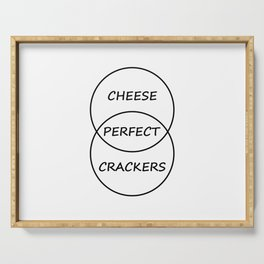 Cheese and Crackers Serving Tray