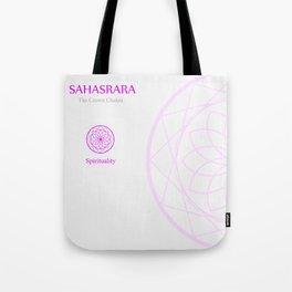 Sahahrara- The crown chakra which stands for spirituality Tote Bag