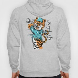 Tiger golfer WITH cap Hoody