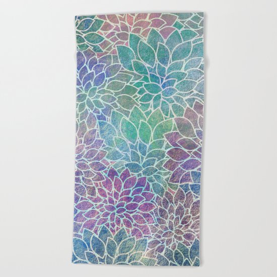 Floral Abstract 9 Beach Towel